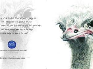 Ostrich Card Made Marian