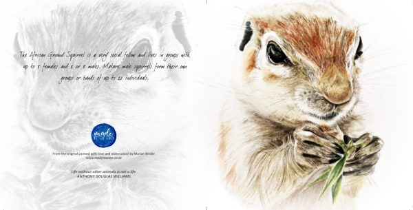 Ground Squirrel Card Made Marian Art Cards Watercolours