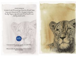 Lioness 150MM X 104MM (A6)greetings card MadeMarian Buy Online-min
