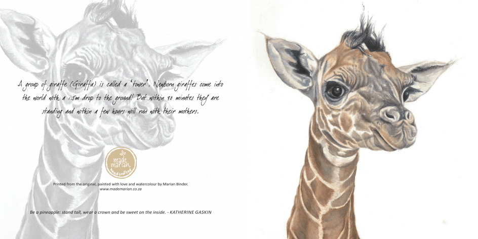 babygiraffe art card mademarian